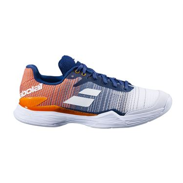 Babolat Jet Mach II Clay Mens Tennis Shoe White/Pureed Pumpkin 30S20631 1035