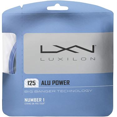 Luxilon Big Banger ALU Power 125 Ice Blue Tennis String