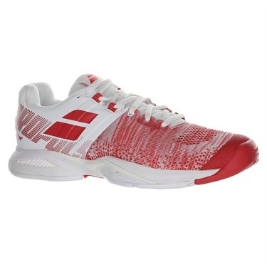 Babolat Propulse Blast All Court Womens Tennis Shoe White/Hibiscus 31F19447 1022
