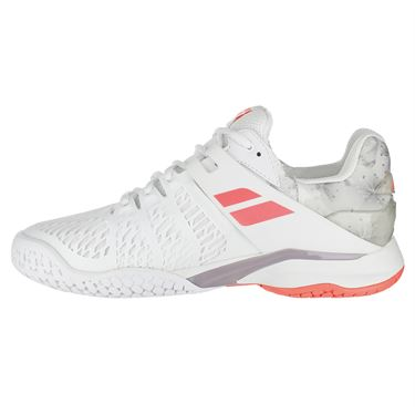 Babolat Propulse Fury All Court Womens Tennis Shoe - Princess White/Fluo Strike
