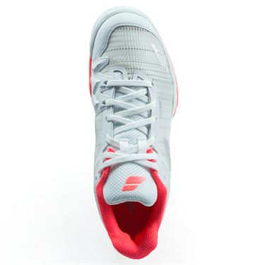 Babolat Jet Mach 2 All Court Womens Tennis Shoe - White/Fluo Pink