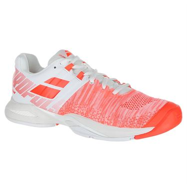 Babolat Propulse Blast All Court Womens Tennis Shoe - White/Fluo Strike
