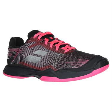 Babolat Jet Mach II Clay Womens Tennis Shoe (RUNS SMALL - SIZE UP 1/2 SIZE)- Pink/Black