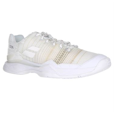 Babolat Jet Mach I All Court Wimbledon Womens Tennis Shoe - White/White