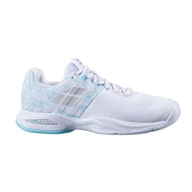 Babolat Propulse Blast All Court Womens Tennis Shoe White/Blue Stream 31S20447 1039