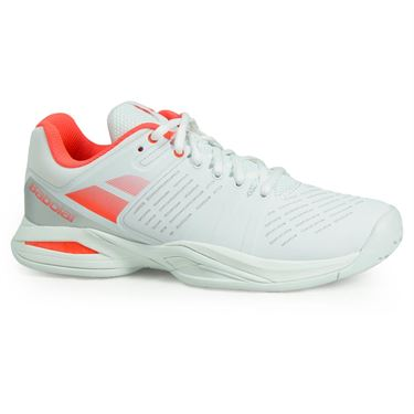 Babolat Propulse Team All Court Womens Tennis Shoe - White/Fluro Red
