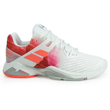 Babolat Propulse Fury All Court Womens Tennis Shoe - White/Pink