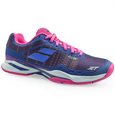 Babolat Jet Mach 1 All Court Womens Tennis Shoe - Estate Blue/ Fandango Pink