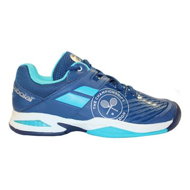 Babolat Wimbledon Propulse Junior Tennis Shoe - Dark Blue