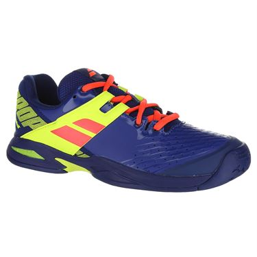 Babolat Junior Propulse All Court Tennis Shoe - Blue/Fluo Aero