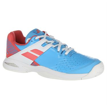 Babolat Junior Propulse All Court Tennis Shoe - Sky Blue/Pink
