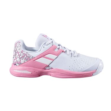Babolat Junior Propulse All Court Tennis Shoe White/Geranium Pink 32S20478 1040
