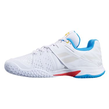 Babolat Propulse All Court Junior Tennis Shoe White/Diva Blue 32S21478 1010