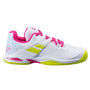 Babolat Propulse All Court Junior Tennis Shoe White/Rose Red 32S21478 1058