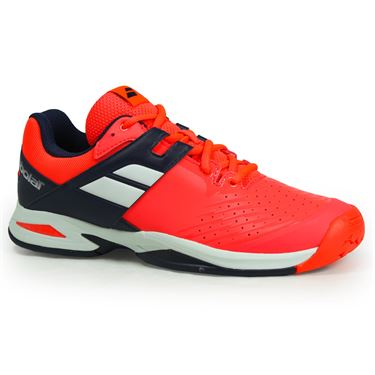Babolat Junior All Court Tennis Shoe - Fluro Red
