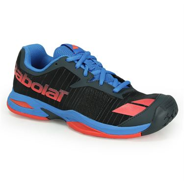 Babolat Junior Jet All Court Tennis Shoe - Grey/Red/Blue