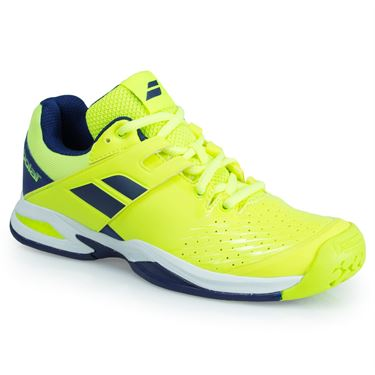 Babolat Propulse Fury All Court Junior Tennis Shoe - Yellow/Blue