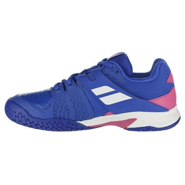 Babolat Propulse Fury All Court Junior Tennis Shoe - Blue/Pink