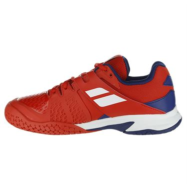 Babolat Propulse Fury All Court Junior Tennis Shoe - Red/Blue