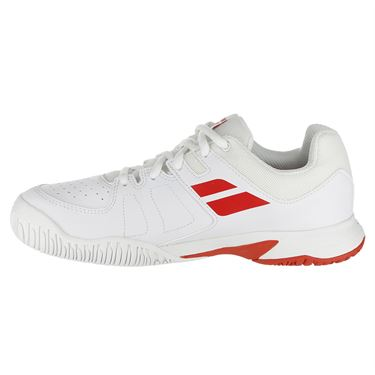 Babolat Pulsion All Court Junior Tennis Shoe - White/Red