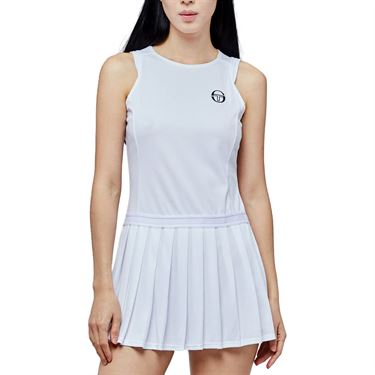 Sergio Tacchini Pliage Dress Womens White/Navy 38482 100