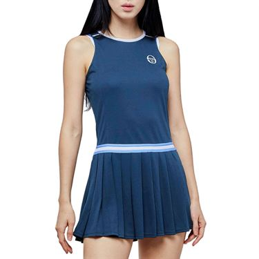 Sergio Tacchini Pliage Dress Womens Campanula/White 38482 295