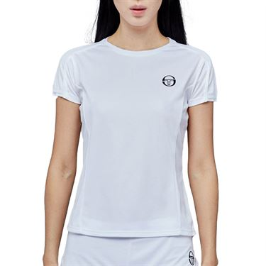 Sergio Tacchini Pliage Tee Shirt Womens White/Navy 38484 100