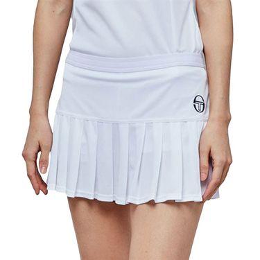 Sergio Tacchini Pliage Skirt Womens White/Navy 38485 100