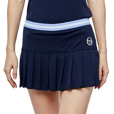 Sergio Tacchini Pliage Skirt Womens Navy/White 38485 297