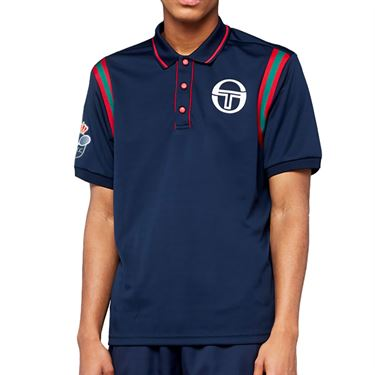 Sergio Tacchini Monte Carlo Frisco Mc Staff Polo Shirt Mens Navy/Apple Red 38587 214