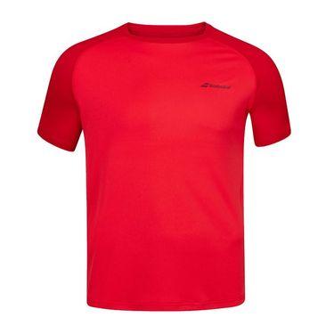 Babolat Play Boys Crew Neck Tee Shirt Tomato Red 3BP1011 5027