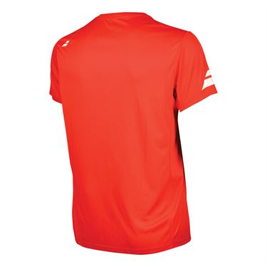 Babolat Boys Core Flag Club Crew - Fiery Red