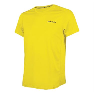 Babolat Boys Core Flag Club Tee - Blazing Yellow