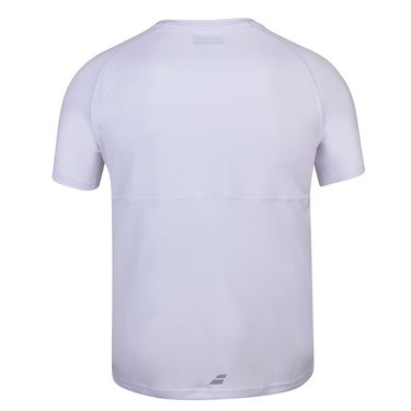 Babolat Play Crew Shirt Mens White 3MP1011 1000S