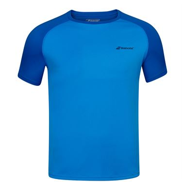 Babolat Play Crew Shirt Mens Blue Aster 3MP1011 4049S