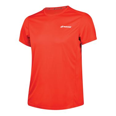 Babolat Core Flag Club Tee - Fiery Red