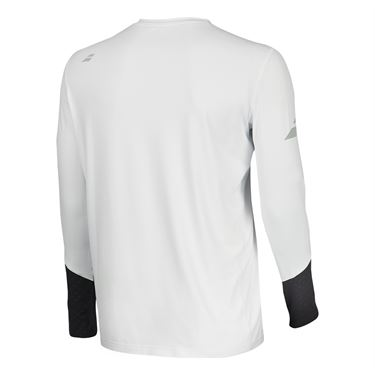 Babolat Core Long Sleeve Crew - White/Rabbit