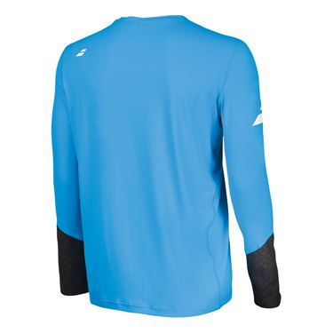 Babolat Core Long Sleeve Crew - Diva Blue/Rabbit