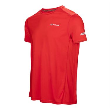 Babolat Boys Core Flag Club Crew - Fluo Red