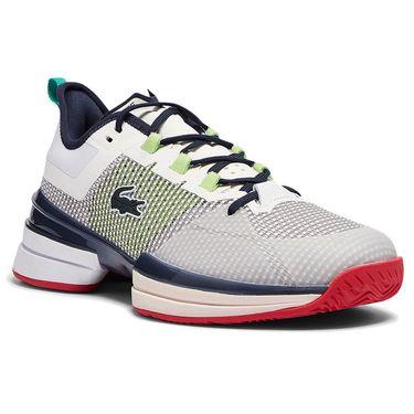 Lacoste AG LT 21 Ultra Mens Tennis Shoe White/Blue/Red 41SMA0092 080