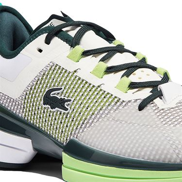 Lacoste AG LT 21 Ultra Mens Tennis Shoe White/Black/Green 41SMA0092 082
