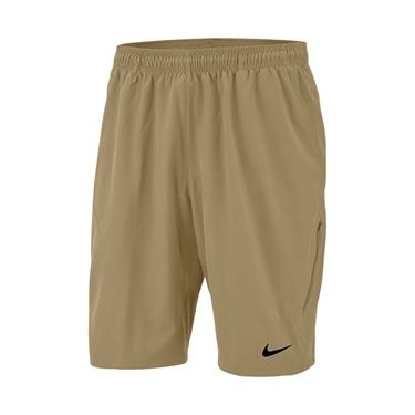 Nike Court Flex 11 inch Woven Short Mens Parachute Beige/Black 455618 297