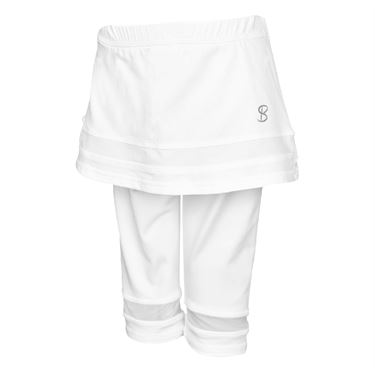 Sofibella Club Lux Girls Abaza Skirt w/Legging White/Diamond 4573 WHT