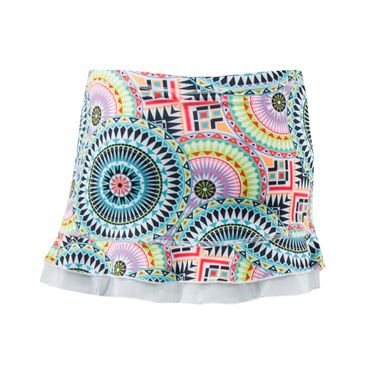 Sofibella UV Colors Girls Ruffle Skirt - Medallion Print