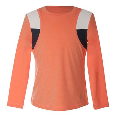 Sofibella Singapore Girls Data Long Sleeve Top - Peach