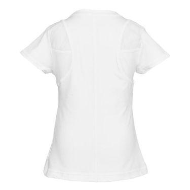 Sofibella Club Lux Girls Short Sleeve Top White/Diamond 4814 WHT