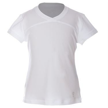 Sofibella UV Short Sleeve Top Girls White 4855 WHT