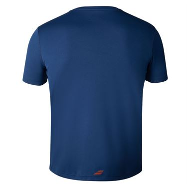 Babolat Boys Exercise Big Babolat Tee Estate Blue 4BTA017 4000