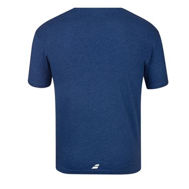 Babolat Exercise Vintage Tee Shirt Mens Estate Blue Heather 4MS20443 4005