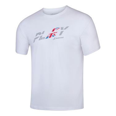 Babolat Exercise Country UK Tee Shirt Mens White/White 4MS20444 1000